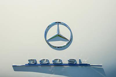 1961 Mercedes Benz 300sl Roadster Emblem Poster by Jill Reger