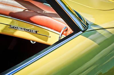 1961 Porsche 356b 1600 Super Dashboard Emblem -1712c Poster by Jill Reger