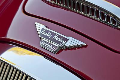 1962 Austin-healey 3000 Mkii Grille Emblem Poster by Jill Reger