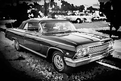 1962 Chevrolet Impala Ss Bw Poster by Rich Franco
