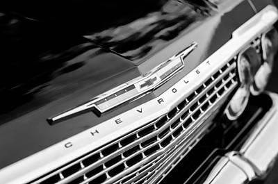 1962 Chevrolet Impala Ss Grille Emblem Poster by Jill Reger