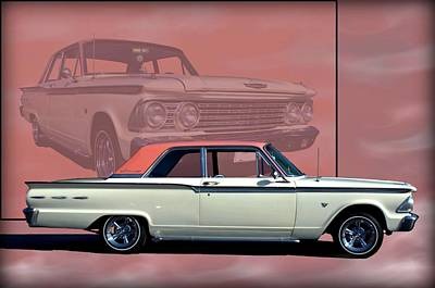 1962 Ford Fairlane 2 Door Sports Coupe Poster by Tim McCullough
