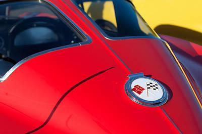 1963 Chevrolet Corvette Convertible Emblem Poster by Jill Reger