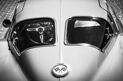 1963 Chevrolet Corvette Split Window -1073bw Poster by Jill Reger