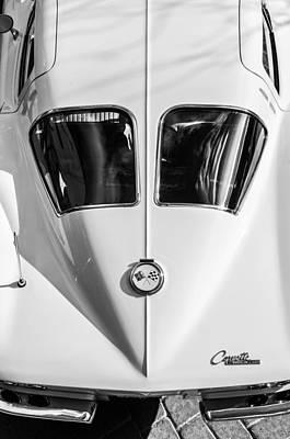 1963 Chevrolet Corvette Split Window -386bw Poster by Jill Reger