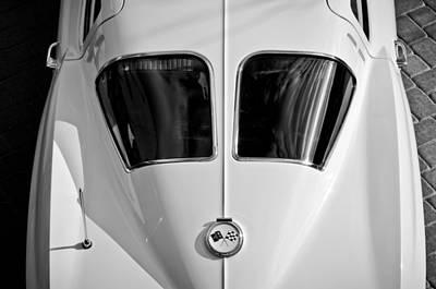 1963 Chevrolet Corvette Split Window -399bw Poster by Jill Reger