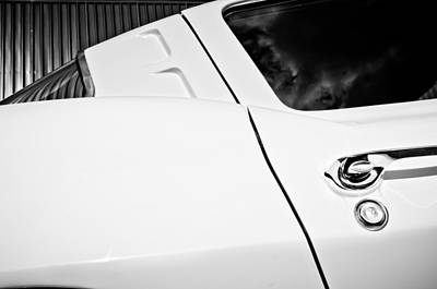 1963 Chevrolet Corvette Split Window -556bw Poster by Jill Reger