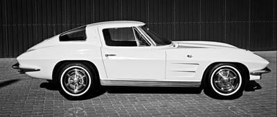 1963 Chevrolet Corvette Split Window -575bw Poster by Jill Reger
