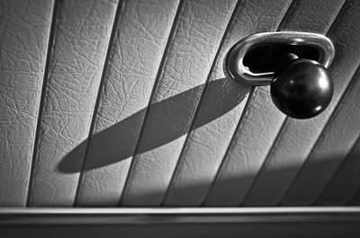 1963 Chevrolet Corvette Split Window Door Latch -295bw Poster by Jill Reger