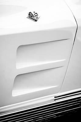 1963 Chevrolet Corvette Split Window Emblem -062bw Poster by Jill Reger