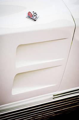 1963 Chevrolet Corvette Split Window Emblem -062c Poster by Jill Reger