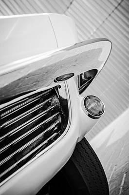 1963 Chevrolet Corvette Split Window Grille -221bw Poster by Jill Reger