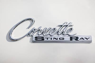 1963 Chevrolet Corvette Split Window - Sting Ray Emblem -252c Poster by Jill Reger