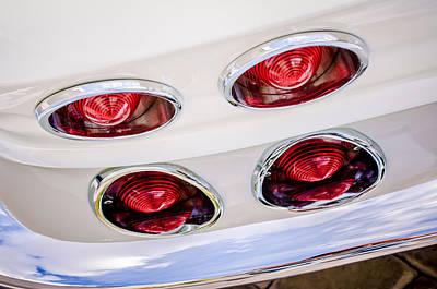 1963 Chevrolet Corvette Split Window Taillights -240c Poster by Jill Reger