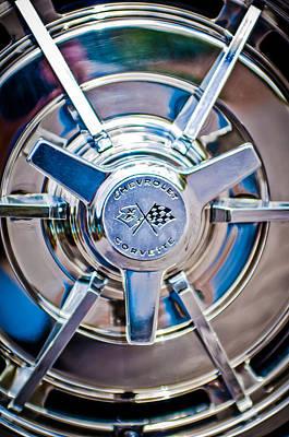 1963 Chevrolet Corvette Split Window Wheel -111c Poster by Jill Reger