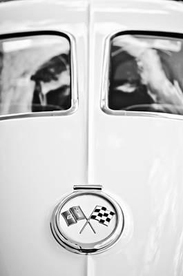 1963 Chevrolet Corvette Split Window Wheel Emblem -118bw Poster by Jill Reger