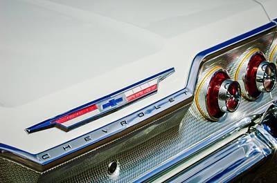 1963 Chevrolet Impala Taillight Emblem -0758c Poster by Jill Reger