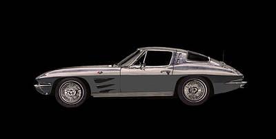 1963 Corvette Split Rear Window Poster by Jack Pumphrey