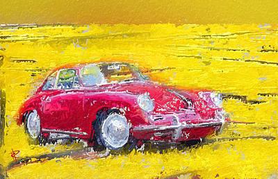 1963 Red Porsche 356b Poster