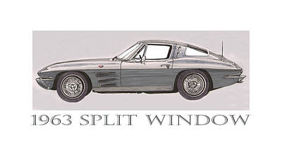 1963 Split Window Poster by Jack Pumphrey