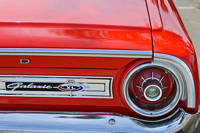 1964 Ford Galaxie 500xl Taillight Emblem Poster by Jill Reger