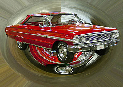 Poster featuring the photograph 1964 Ford Galaxie by B Wayne Mullins