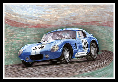 1964 Shelby Daytona Poster by Jack Pumphrey