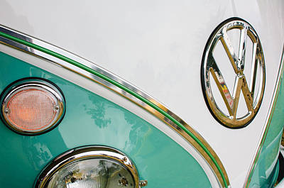 1964 Volkswagen Samba 21 Window Bus Vw Emblem Poster
