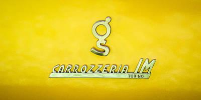 1965 Apollo 3500 Gt Carrozzeria Im Torino Emblem Poster by Jill Reger
