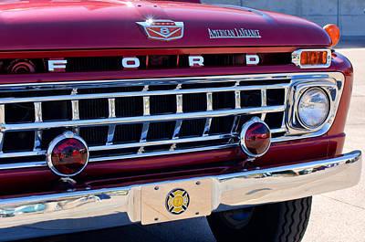1965 Ford American Lafrance Fire Truck Poster by Jill Reger
