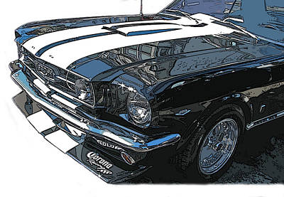 1965 Ford Mustang Gt Poster by Samuel Sheats