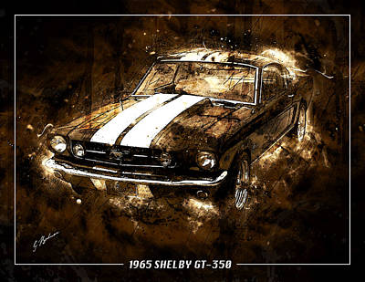 1965 Ford Shelby Mustang Gto-350 #5 Poster by Gary Bodnar
