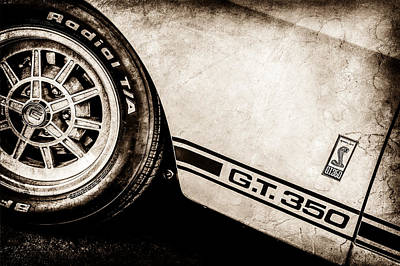 1965 Shelby Gt350 Side Emblem -0775s Poster