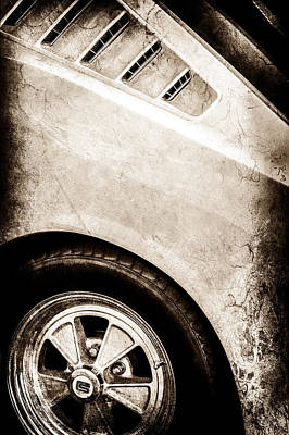 1965 Shelby Mustang Gt350 Emblem -0822s Poster by Jill Reger
