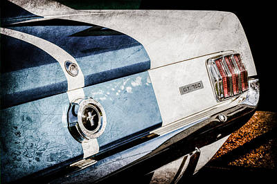 1965 Shelby Mustang Gt350 Taillight Emblem -0809ac Poster by Jill Reger
