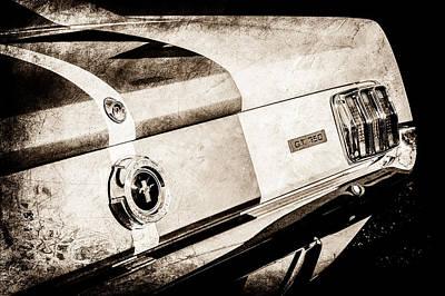 1965 Shelby Mustang Gt350 Taillight Emblem -0809s Poster by Jill Reger