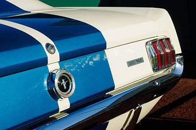 1965 Shelby Mustang Gt350 Taillight Emblem Poster by Jill Reger