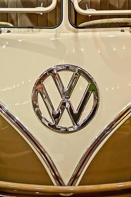 1965 Volkswagen Vw Samba Bus Emblem Poster