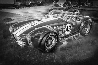 1966 Ford Ac Cobra 427 Big Block Bw Poster by Rich Franco