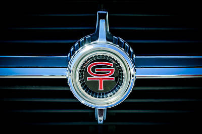 1966 Ford Fairlane Gt Grille Emblem Poster by Jill Reger