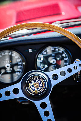 1966 Jaguar Xk-e Steering Wheel Emblem -2489c Poster by Jill Reger
