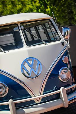 1966 Volkswagen Micro Bus -1012c Poster by Jill Reger