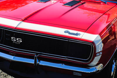 1967 Chevrolet Camaro Ss350 Convertible Grille Emblem Poster