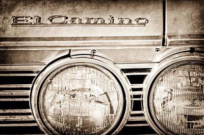 1967 Chevrolet El Camino Pickup Truck Emblem Poster by Jill Reger
