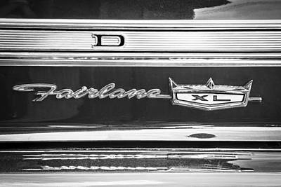 1967 Ford Fairlane 500xl Bw Poster by Rich Franco