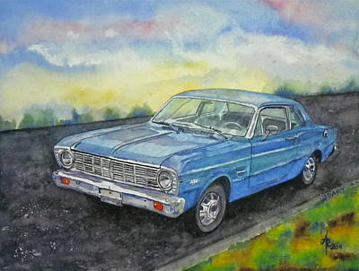 Poster featuring the painting 1967 Ford Falcon Futura by Anna Ruzsan