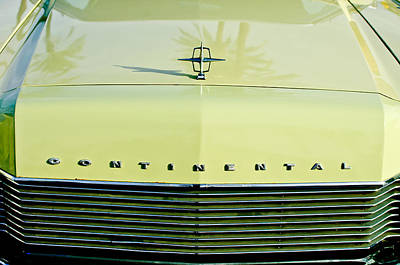 1967 Lincoln Continental Grille Emblem - Hood Ornament Poster by Jill Reger