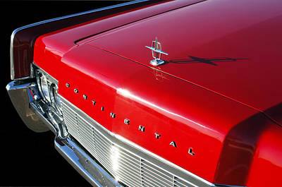 1967 Lincoln Continental Hood Ornament - Emblem -646c Poster by Jill Reger