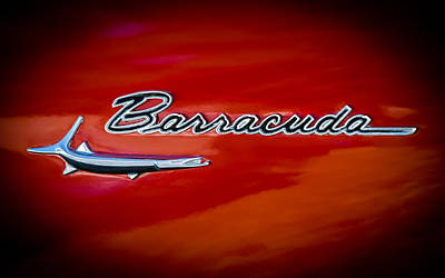 1967 Plymouth Barracuda Emblem Poster by Jill Reger