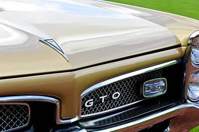 1967 Pontiac Gto Grille Emblem 2 Poster by Jill Reger